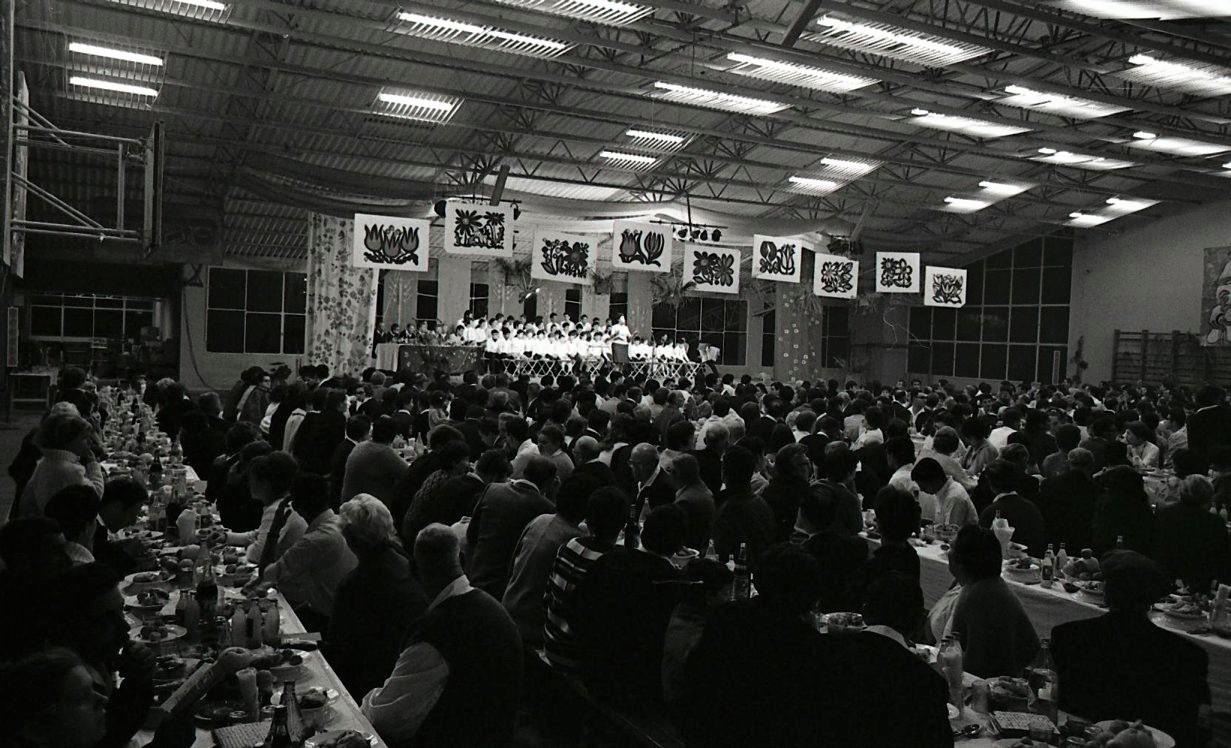 סדר פסח באולם בדפנה 1969