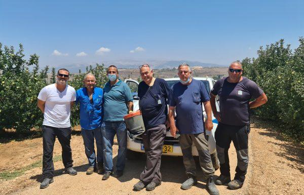 """מנכ""""ל רשות הכינרת סייר בגבול ישראל לבנון עם ראש מועצת מטולה"""