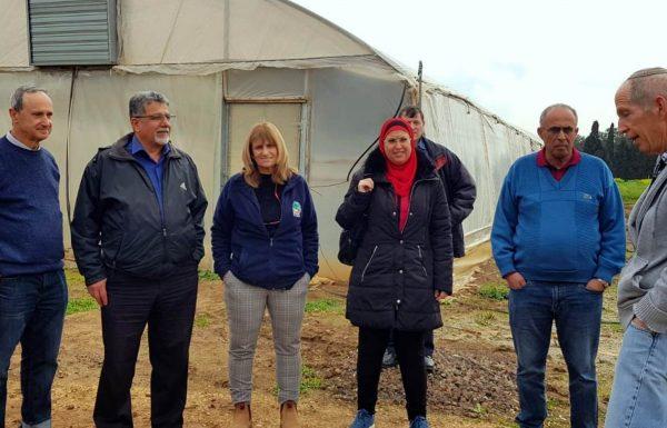 """סיור משותף למו""""פ צפון ובכירים מהשירותים להגנת הצומח במשרד החקלאות"""